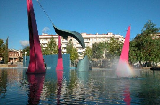 Escultura de la balena a la plaça Catalunya