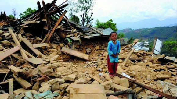 Una de les imatges del Nepal devastat