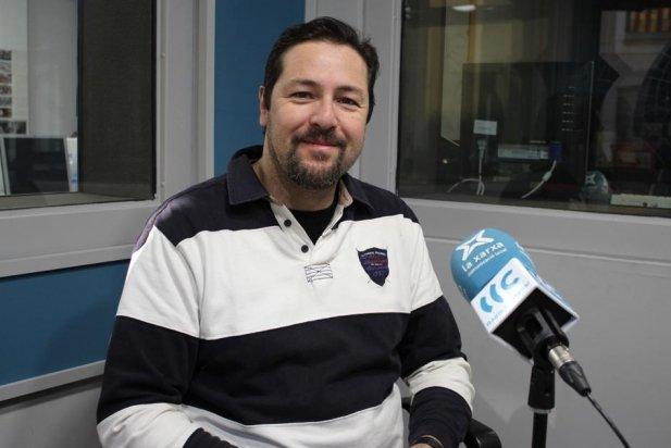 El policia castellarenc Miki Piñol a la redacció de L'Actual