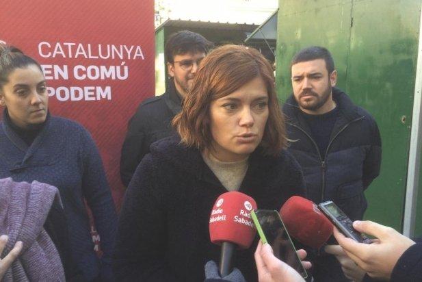 Elisenda Alamany en un acte preelectoral, dilluns passat a Sabadell