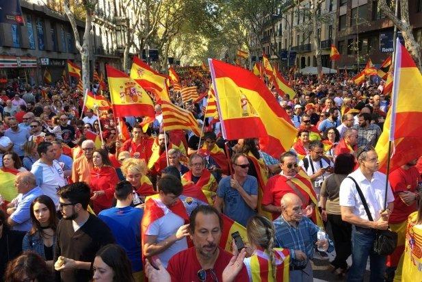 Imatge de la manifestació per la unitat d'Espanya