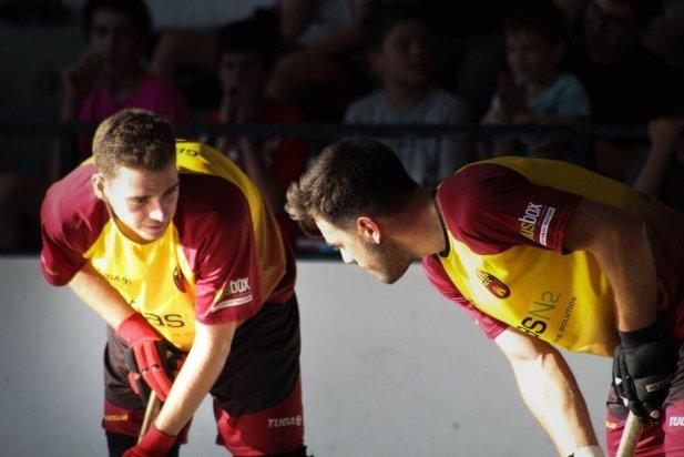 Gerard Tantinyà i Jordi Vegas, jugadors de l'HC Castellar