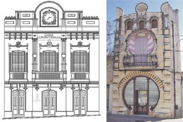 Façana de l'antic Ajuntament i Ca l'Anastasi_617x412