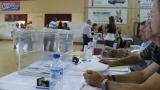 Una urna al pavelló Joaquim Blume a les eleccions de 2009
