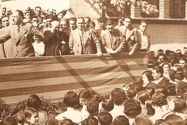 Lluís Companys en una visita a Castellar l'any 1934_617x412
