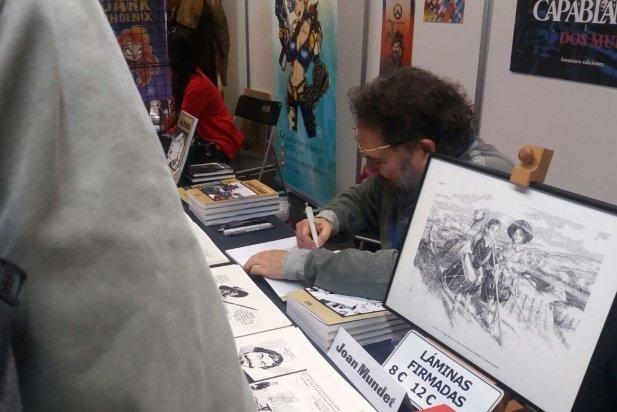Joan Mundet a l'Artist Alley del 36è Saló Internacional del Còmic de Barcelona.