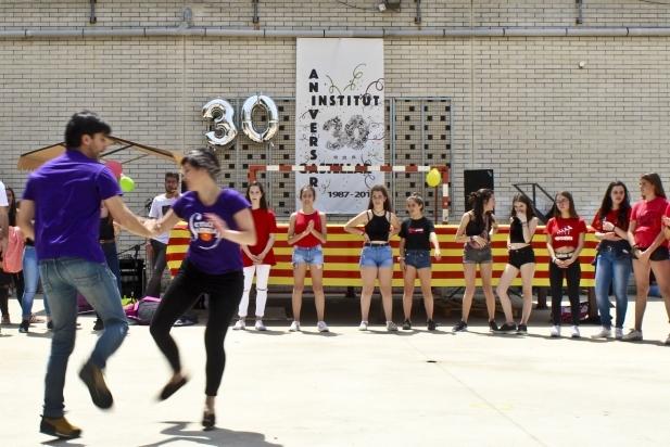 Una de les activitats que es van fer durant la Festa del 30è aniversari,  on es feia la cloenda dels actes / Carles Díaz