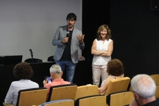 El regidor Joan Creus, i la ponent Patrícia Ros