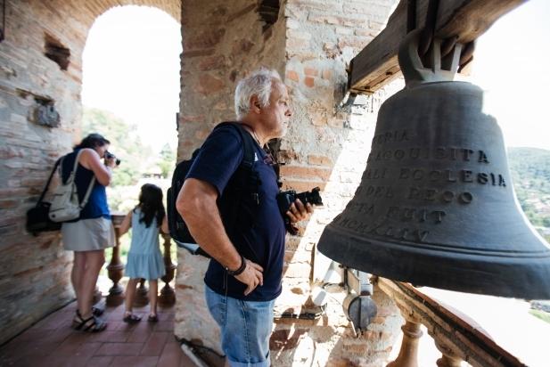 Durant el matí de diumenge, es va poder gaudir de la vista privilegiada que ofereix el campanar de Sant Feliu