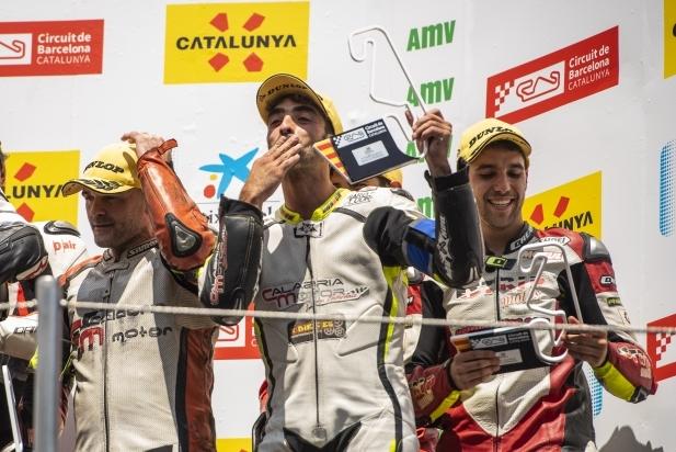 Toni Garcia-Duque al podi del Circuit de Barcelona-Catalunya.