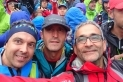 Enric Altayó, Jordi Béjar i Manolo Real a l'Ultra Trail Montblanc
