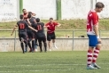 Els jugadors de la UE Castellar celebren el segon gol a Cardedeu.