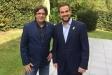 Carles Puigdemont amb Pau Castellví, divendres passat a Waterloo