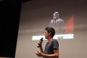 Gerard Arderius va presentar el seu projecte 'El soso catalán que hace reír'. ||A. P.