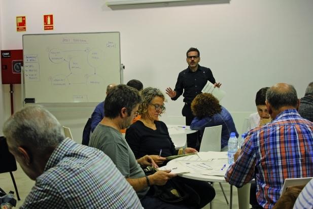 Moment del tercer taller del Pla Estratègic, dedicat al territori - C.D.