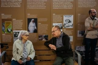 Moment de la inauguració de l'exposició commemorativa dels 90 anys de la FOSB / Q. Pascual