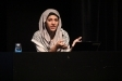 Míriam Hatibi, dimarts passat, a la xerrada de L'Aula a El Mirador  - R.G.