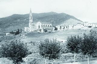 Església parroquial de Castellar, vers 1920.   JOAN ROCAVERT ARGELAGUÉS