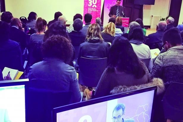 Ignasi Giménez en la presentació de l'estudi a Terrassa - CEDIDA