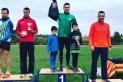 Xavi Planas amb el premi del pernil, aconseguit com a campió absolut.