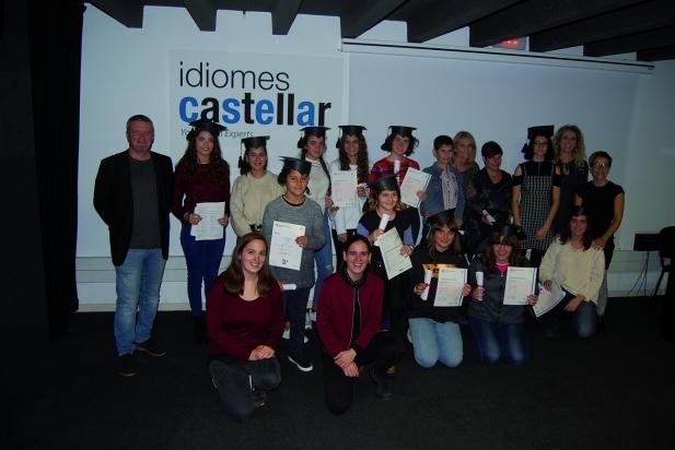 Lliurament de diplomes d'Idiomes Castellar
