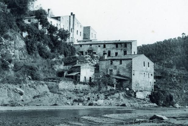 Molí d'en Barata, Sant Feliu del Racó, 1962. || Fons: Maria Soldevila