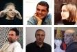 D'esquerra a dreta, Miquel Desclot, Enric Aguilar, Blanca Gibert. A sota, Joan Mundet, Esteve Prat i Dani Rocavert. || CEDIDES