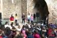 Activitat del Tió Màgic a l'interior de l'ermita de Castellar Vell. || CEDIDA