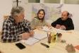 Els regidors d'ERC, JM Calaf, N. Raspall i F.Rebollo, a la roda de premsa d'aquest dimarts
