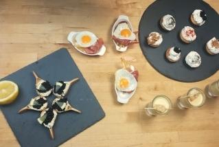 Quatre aperitius. ||QUINS FOGONS
