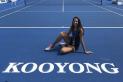 La tenista Georgina Garcia a la mítica pista de Kooyong a Austràlia.    CEDIDA