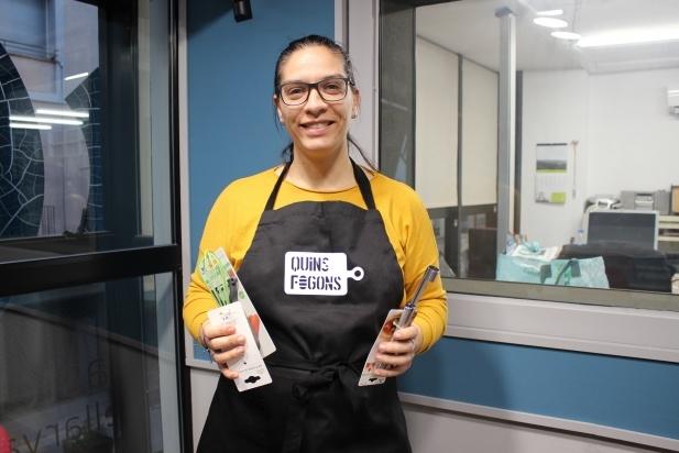 Marina Barbero, guanyadora del primer concurs de tortells Quins fogons. ||  M. A.