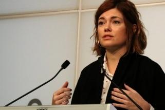 Elisenda Alamany en la seva compareixença al Parlament
