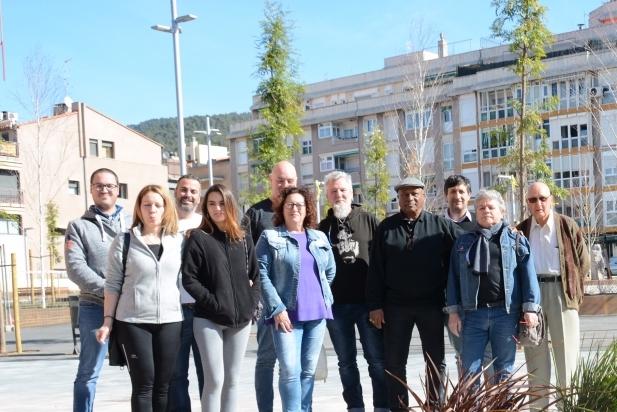 El cap de llista, quart per la dreta, amb membres de la candidatura / CEDIDA