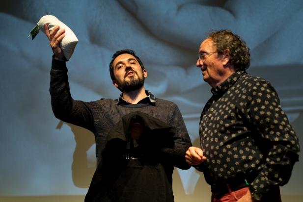 A l'esquerra, el doctor en comunicació social Alan Salvadó, a la dreta, el director del BRAM! Pere Joan Ventura. || Q. PASCUAL