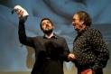 A l'esquerra, el doctor en comunicació social Alan Salvadó, a la dreta, el director del BRAM! Pere Joan Ventura.    Q. PASCUAL