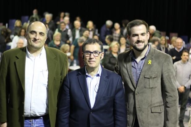 D'esq. a dreta: R.Garcia, J. Alonso-Cuevillas i P.Castellví - M. Muñoz