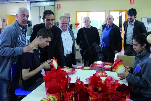 Auroritats i responsables del TEB fent una visita al TEB dimecres al matí || CEDIDA