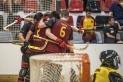 L'equip grana celebra un gol en un partit de lliga.