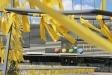 Imatge de la plaça d'El Mirador aquest dimecres plena de llaços grocs