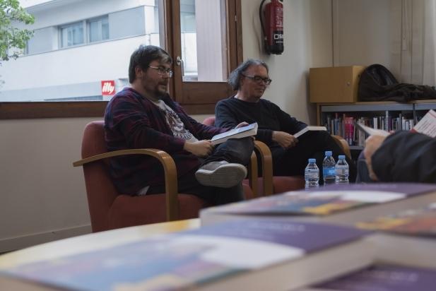A l'esquerra, Alberto Reche i, a la seva dreta, Antoni Rossell - F.Muñoz