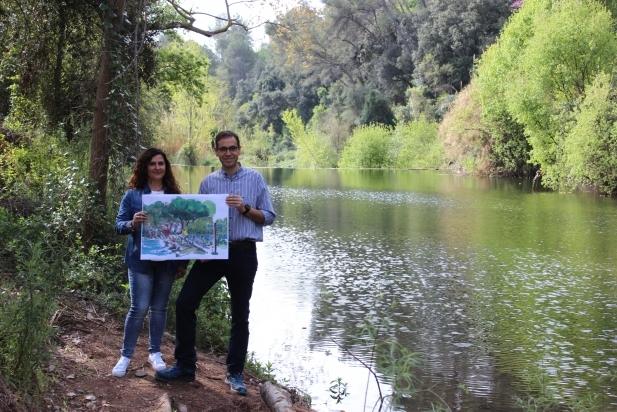 El cap de llista Ignasi Giménez amb Joana Borrego, número 6 de la candidatura, al Ripoll