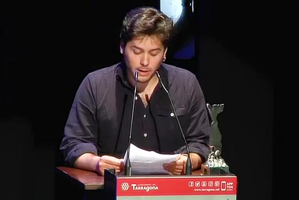 Eloi Creus recull el Premi Vidal Alcover als Premis Literaris Ciutat de Tarragona. || CEDIDA