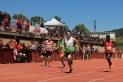 Marc Villanueva en el moment de la victòria als 100 metres