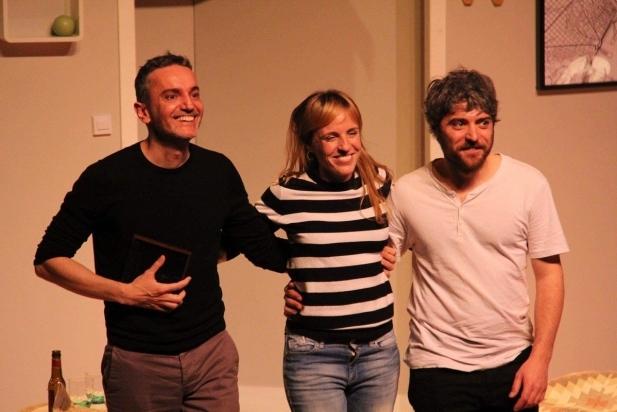 D'esquerra a dreta, Albert Triola, Sara Espígul i Biel Duran. ||  CEDIDA
