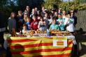 Els atletes del Sant Esteve celebrant la tercera posició