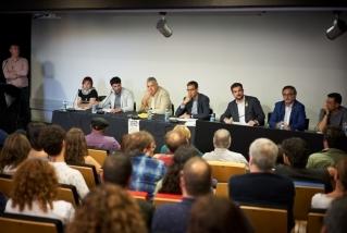 Sis alcaldables i un número dos van protagonitzar el debat de les eleccions municipals. Q. Pascual