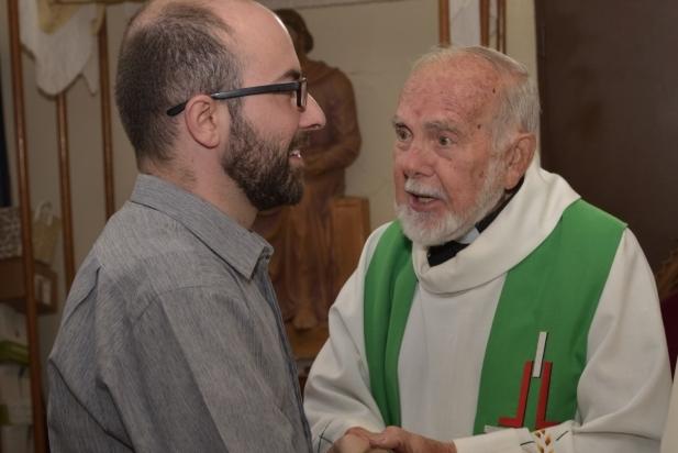 Mossèn Txema Cot amb el Pare Francisco Lara Fernandez