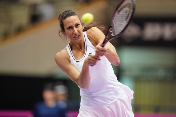 Georgina Garcia durant la Fed-Cup al Japó.