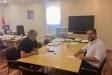 Castellví amb el director general de Prevenció i Extinció d'Incendis, Manel Pardo